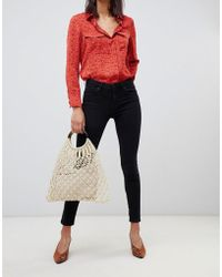 Mango - Organic Skinny Jeans In Black - Lyst