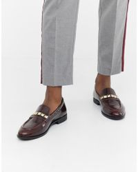9ba7848957b9e House Of Hounds Blain Bar Loafers In Burgundy in Red for Men - Lyst