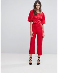 Fashion Union - Tailored Pants Co-ord - Lyst
