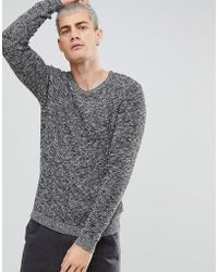 SELECTED - Knitted Sweater With Mixed Yarn Detail - Lyst