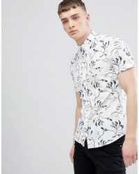 Solid - Regular Fit Shirt In Seaweed Print - Lyst