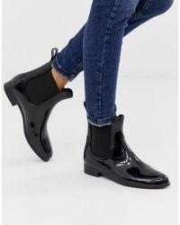 London Rebel Chelsea Wellie Boots - Black