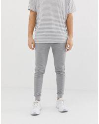 ASOS - Skinny Ribbed Sweatpants In Gray - Lyst