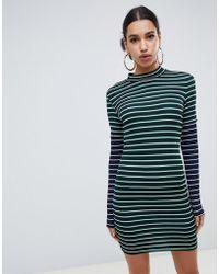 ASOS - Double Sleeve Stripe Dress - Lyst