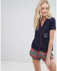 Chelsea Peers - Holidays Check Short Pajama Set - Lyst