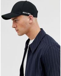 2dc5f3862ad Jack   Jones - Baseball Cap In 100% Cotton With Side Logo - Lyst