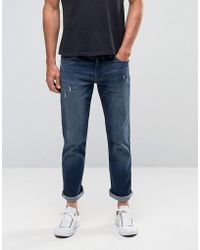 Hollister - Slim Straight Jeans Stretch Indigo Dark Wash In Blue - Lyst