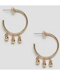 Whistles - Multi Sphere Detail Hoop Earring - Lyst