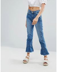Pimkie - Flute Hem Cropped Jeans - Lyst