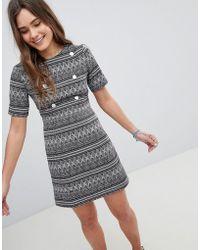 Girls On Film - Printed Shift Dress - Lyst