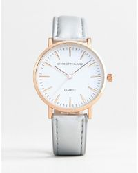Christin Lars - Watch With Gold Case And Silver Strap - Lyst