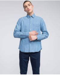 Aspesi | Chambray Cotton Shirt Sedici | Lyst