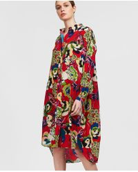 Aspesi - Printed Silk Shirt Dress - Lyst