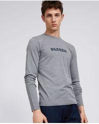Aspesi - T-shirt Silenzio - Lyst