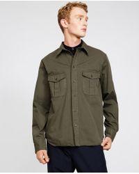 Aspesi - Garment Dyed Light Gabardine Shirt Raf - Lyst