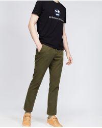 Aspesi - Garment Dyed Cotton Trousers Secco Super Slim - Lyst