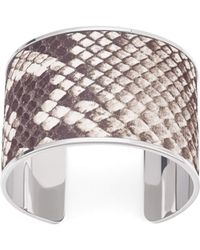 Aspinal of London - Silver Cleopatra Cuff Bracelet - Lyst