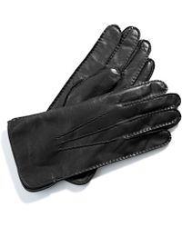Aspinal - Cashmere Lined Leather Gloves - Lyst