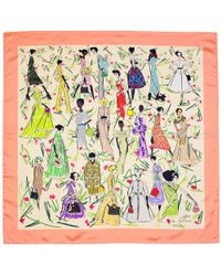 Aspinal of London - Giles X Aspinal (ladies Silk Scarf - Coral) - Lyst