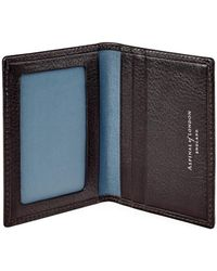 Aspinal of London - Dark Brown Pebble Italian Calf Leather Aerodrome Id & Travel Card Case - Lyst