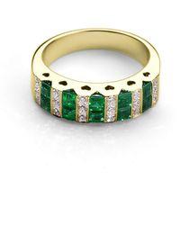 Aspinal of London - Aspinal Heart Emerald & Diamond Ring - Lyst