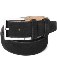 Aspinal - Men's Chelsea Suede Belt In Black Suede - Lyst