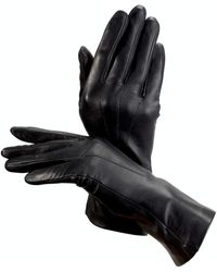 Aspinal of London - Ladies Comfortable Leather Gloves - Cashmere Lined In Black - Lyst