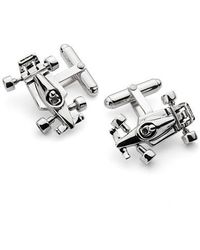 Aspinal - Sterling Silver Racing Car Cufflinks - Lyst