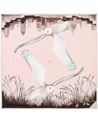 Aspinal - Owl In The City Silk Scarf - Lyst