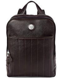 Aspinal of London - Dark Brown Pebble Italian Calf Leather Aerodrome Backpack - Lyst