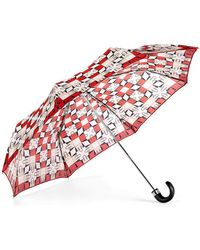 Aspinal of London - Ladies Folding Umbrella - Marylebone Compact Umbrella In Berry Red - Lyst