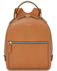 Aspinal of London - Ladies Luxurious Brown Leather Small Mount Street Backpack - Lyst