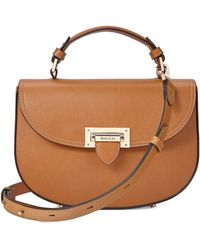 Aspinal - Letterbox Saddle Bag In Vintage Tan Croc - Lyst