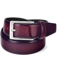 Aspinal - Men's Formal Leather Belt In Burgundy Shine - Lyst