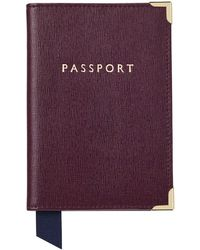 Aspinal of London - Plain Passport Cover - Lyst