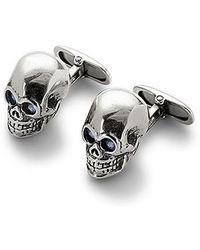 Aspinal - Sterling Silver Skull Cufflinks - Lyst