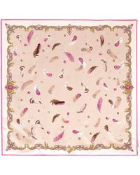 Aspinal - Aspinal Feather Silk Scarf - Lyst