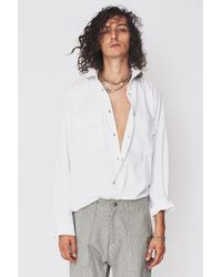 Assembly - L/s Poet Shirt - White - Lyst