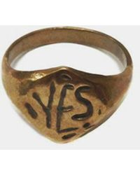 Open House - Bronze Yes Ring - Lyst