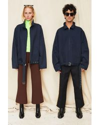Assembly - Navy Belted Zipcoat - Lyst