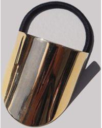 Saskia Diez - Gold Oval Hair Tie - Lyst