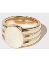 J. Hannah - Gold Stacked Signet - Lyst