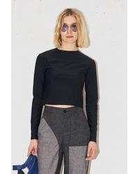 Assembly - Spandex Cropped Long Sleeve - Black - Lyst