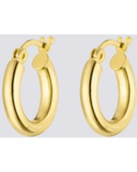 Nina Kastens Jewelry - Small Gold Hoops - Lyst