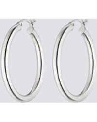 Nina Kastens Jewelry Large Silver Hoops