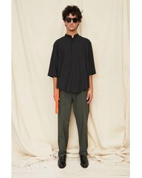 Assembly - Grid Noncollar Shirt - Lyst