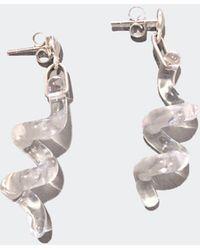 Open House - Quartz Spiral Earrings - Lyst
