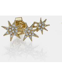 Gabriela Artigas - 14k Triple Shooting Star Earrings - Lyst