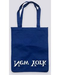 Assembly - Cotton Logo Tote Ny/la - Blue - Lyst