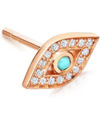 Astley Clarke Pavé Ball Halo Diamond Single Stud Earring